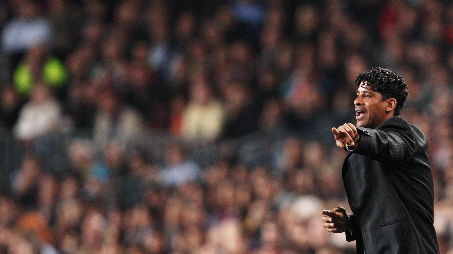 Rijkaard The FC Barcelona coach